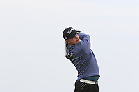 Robbie Muir (SCO) on the 1st tee during Round 1of the Flogas Irish Amateur Open Championship 2019 at the Co.Sligo Golf Club, Rosses Point, Sligo, Ireland. 16/05/19<br /> <br /> Picture: Thos Caffrey / Golffile<br /> <br /> All photos usage must carry mandatory copyright credit (© Golffile | Thos Caffrey)