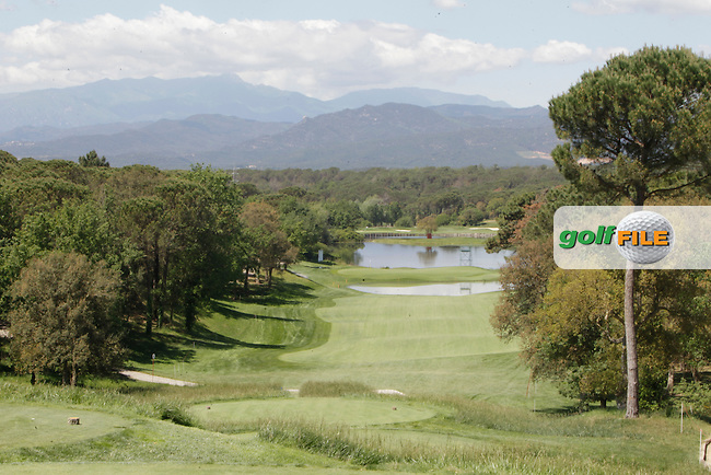 View from the 13th tee in the Pro-Am during The Open De Espana at The PGA Catalunya Resort on Wednesday 14th May 2014.<br /> Picture:  Thos Caffrey / www.golffile.ie