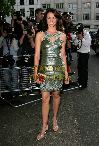 BEVERLEY TURNER.Arrivals at the 4th Aunnual Glamour Women Of The Year Awards, Berkely Square Gardens, London, England, .June 5th 2007..full length green silver sequined beaded dress shiny.CAP/AH.©Adam Houghton/Capital Pictures.