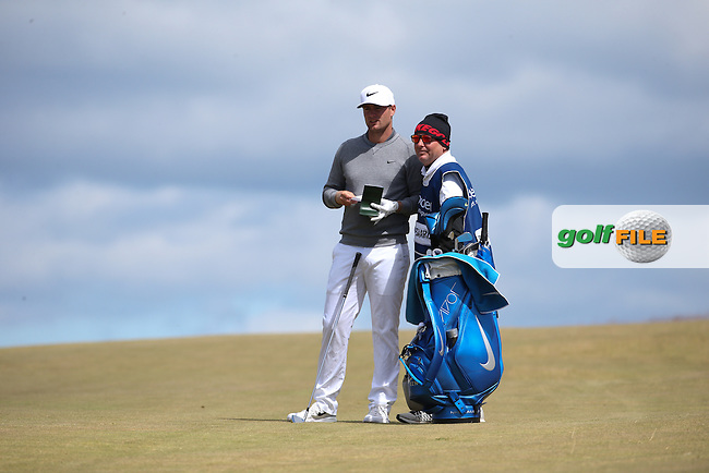 Lucas Bjerregaard (DEN) plays to the last hole during Round Two of the 2016 Aberdeen Asset Management Scottish Open, played at Castle Stuart Golf Club, Inverness, Scotland. 08/07/2016. Picture: David Lloyd | Golffile.<br /> <br /> All photos usage must carry mandatory copyright credit (&copy; Golffile | David Lloyd)