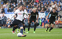 Bolton Wanderers' Adam Le Fondre scores his sides second goal from a penalty<br /> <br /> Photographer Rachel Holborn/CameraSport<br /> <br /> The EFL Sky Bet Championship - Bolton Wanderers v Leeds United - Sunday 6th August 2017 - Macron Stadium - Bolton<br /> <br /> World Copyright &copy; 2017 CameraSport. All rights reserved. 43 Linden Ave. Countesthorpe. Leicester. England. LE8 5PG - Tel: +44 (0) 116 277 4147 - admin@camerasport.com - www.camerasport.com