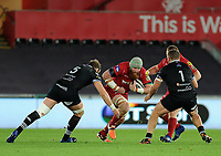 Scarlets' Jake Ball in action during todays match<br /> <br /> Photographer Ashley Crowden/CameraSport<br /> <br /> Guinness Pro14 Round 6 - Ospreys v Scarlets - Saturday 7th October 2017 - Liberty Stadium - Swansea<br /> <br /> World Copyright &copy; 2017 CameraSport. All rights reserved. 43 Linden Ave. Countesthorpe. Leicester. England. LE8 5PG - Tel: +44 (0) 116 277 4147 - admin@camerasport.com - www.camerasport.com