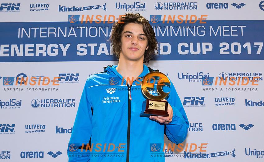 Thomas Ceccon Best male Performance 2001-2002<br /> Lignano Sabbiadoro 07-05-2017 Ge.Tur Complex <br /> Energy Standard Cup 2017 Nuoto<br /> Photo Andrea Staccioli/Deepbluemedia/Insidefoto