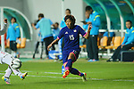 Rie Usui (JPN), <br /> SEPTEMBER 18, 2014 - Football / Soccer : <br /> Women's Group Stage <br /> between Japan Women's 12-0 Jordan Women's <br /> at Namdong Asiad Rugby Field <br /> during the 2014 Incheon Asian Games in Incheon, South Korea. <br /> (Photo by YUTAKA/AFLO SPORT)