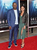 WESTWOOD, CA - APRIL 11: Dennis Haysbert (L) and Katharine Haysbert attend the premiere of 20th Century Fox's 'Breakthrough' at Westwood Regency Theater on April 11, 2019 in Los Angeles, California.<br /> CAP/ROT/TM<br /> ©TM/ROT/Capital Pictures