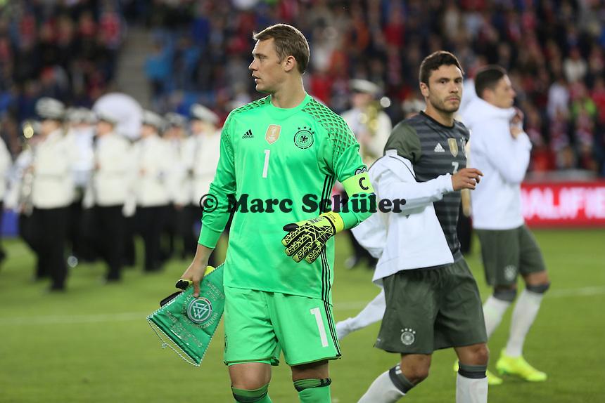Kapitän Manuel Neuer (Deutschland Germany)- Norwegen vs. Deutschland, Ullevaal Stadium Oslo, WM-Qualifikation Spiel 1