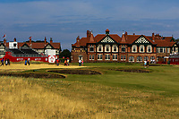 Club house and 18th green during Round 4 of the Ricoh Women's British Open at Royal Lytham &amp; St. Annes on Sunday 5th August 2018.<br /> Picture:  Thos Caffrey / Golffile<br /> <br /> All photo usage must carry mandatory copyright credit (&copy; Golffile | Thos Caffrey)