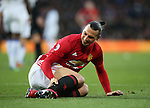 Manchester United's Zlatan Ibrahimovic hurts his leg during the Premier League match at Old Trafford Stadium, London. Picture date December 26th, 2016 Pic David Klein/Sportimage