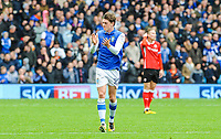 Sheffield Wednesday's midfielder Adam Reach (20) scores goal number  1 of the season during the Sky Bet Championship match between Sheff Wednesday and Barnsley at Hillsborough, Sheffield, England on 28 October 2017. Photo by Stephen Buckley / PRiME Media Images.