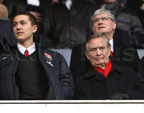 03.03.2013. London, England. Ken Friar OBE and Director of Arsenal and Pat Rice, ex assistant manager of Arsenal before the Premier League game between Tottenham Hotspur and Arsenal from White Hart Lane