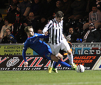 Graham Carey is fouled by Andrew Shinnie in the St Mirren v Inverness Caledonian Thistle Clydesdale Bank Scottish Premier League match played at St Mirren Park, Paisley on 30.1.13.