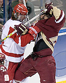 Tom Gilbert, Dan Bertram - The University of Wisconsin Badgers defeated the Boston College Eagles 2-1 on Saturday, April 8, 2006, at the Bradley Center in Milwaukee, Wisconsin in the 2006 Frozen Four Final to take the national Title.