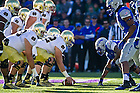 Oct. 26, 2013; Center Nick Martin (72) and the offensive line get ready for the snap.