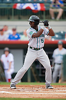 Daytona Tortugas center fielder Taylor Trammell (5) at bat during a game against the Florida Fire Frogs on April 7, 2018 at Osceola County Stadium in Kissimmee, Florida.  Daytona defeated Florida 4-3 in a six inning rain shortened game.  (Mike Janes/Four Seam Images)