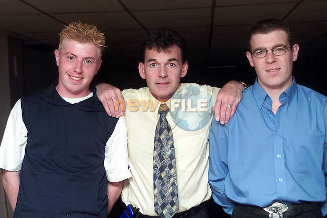 Richard Noone, John Collier and Anthony Kelly part of the entertainments team at Mosney..Picture Paul Mohan Newsfile