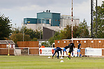 Leiston players warm up with the weetabix factory in Burton Latimer in the background. Kettering Town 1 Leiston 2, Evo Stick Southern League Premier Central, Latimer Park. Kettering Town are a famous name in non-league football. After financial problems, relegations, and relocation, the club are once again upwardly mobile. Despite losing to Leiston, Kettering finished the season as Champions and were promoted to the National League North.