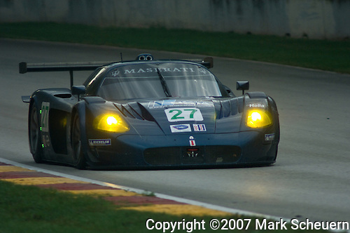 11 August 2007: The Doran Racing Maserati MC12 driven by Didier Theys and Fredy Lienhard at the Generac 500 at Road America, Elkhart Lake, WI