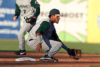 Fort Wayne TinCaps infielder Jonathan Galvez (4) during a game vs. the West Michigan Whitecaps at Fifth Third Field in Comstock Park, Michigan August 18, 2010.   Fort Wayne defeated West Michigan 5-1.  Photo By Mike Janes/Four Seam Images