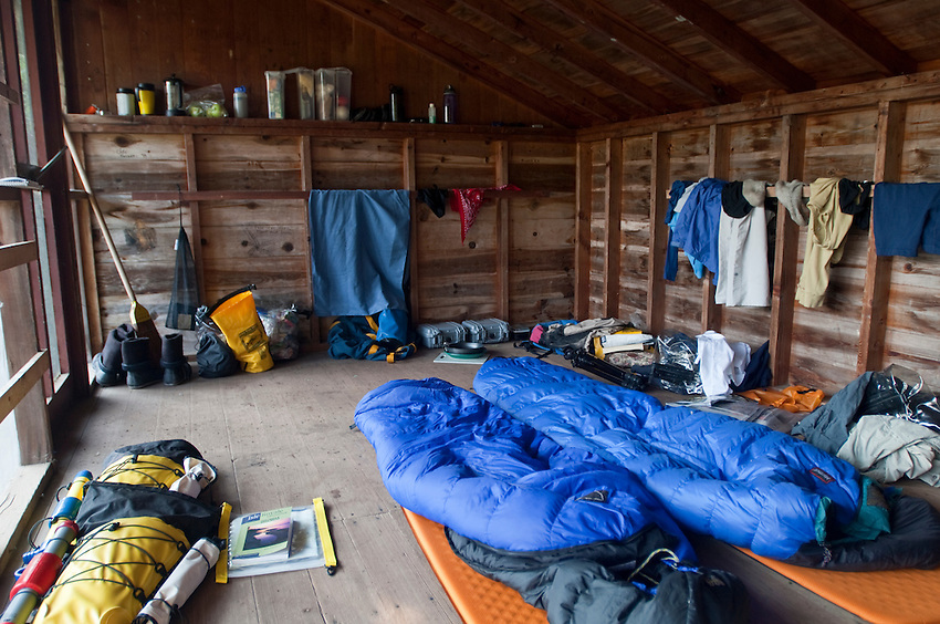 Camping in a backcountry shelter at Isle Royale National Park.