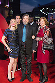 London, UK. 22 March 2016. Mark Hamill with daughter Chelsea Hamill (left) and wife Marilou York (right). Warner Bros. Pictures presents the European Premiere of Batman v Superman, Dawn of Justice. The movie, directed by Zack Snyder, stars Ben Affleck as Batman/Bruce Wayne and Henry Cavill as Superman/Clark Kent in the characters' first big-screen pairing. The movie opens in cinemas on 25 March 2016. © Vibrant Pictures/Alamy Live News