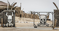 The Ugab River Gate at the southern entrance to Skeleton Coast National Park closes at 3:00 p.m. daily.  The photo says it all.