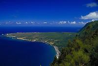 Kalaupapa peninsula from Palau State park,Molokai
