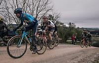 Alejandro Valverde (ESP/Movistar)<br /> <br /> 12th Strade Bianche 2018<br /> Siena &gt; Siena: 184km (ITALY)