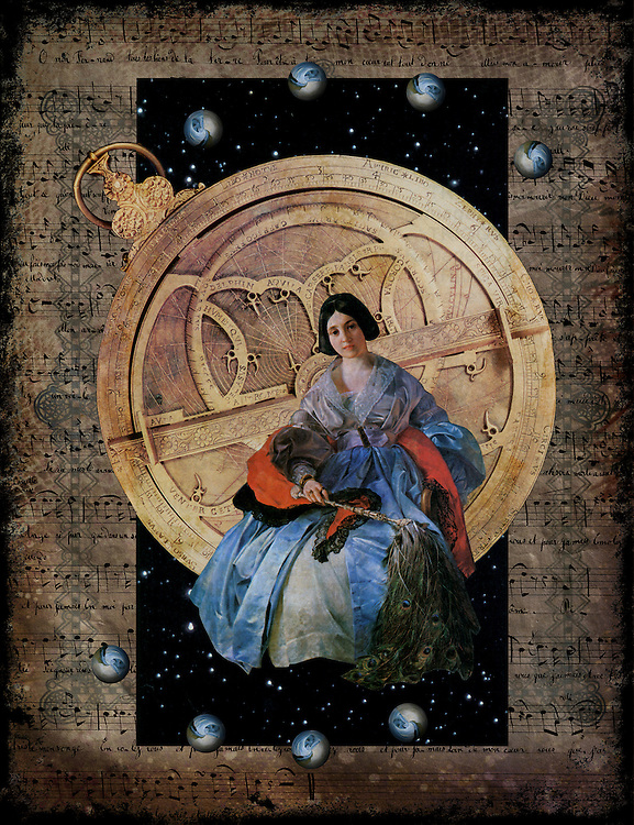 Urania, muse of astronomy directs the music of the spheres.