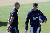 Stuart Broad of Notts and  Sir Alastair Cook of Essex in conversation ahead of Essex CCC vs Nottinghamshire CCC, Specsavers County Championship Division 1 Cricket at The Cloudfm County Ground on 14th May 2019