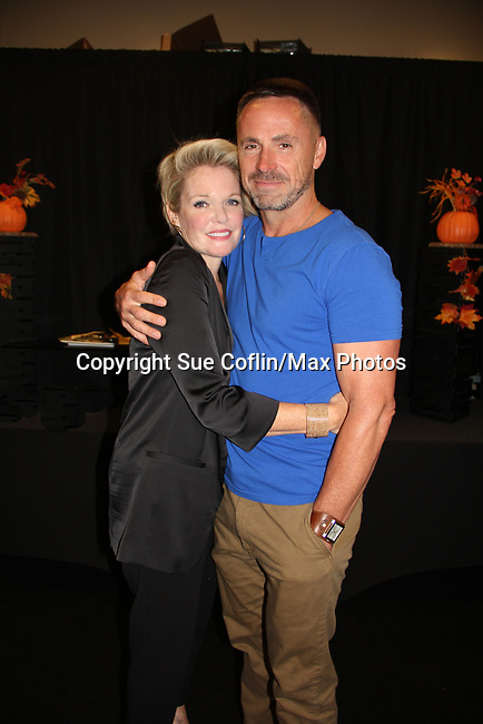 General Hospital's actors - Maura West and William DeVry on October 5, 2019 at the Hollywood Casino, Columbus, Ohio with a Q & A and a VIP meet and greet. (Photo by Sue Coflin/Max Photo)