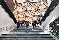 Nederland - Assen-  April  2019 . Trap in het station van Assen.  Foto Berlinda van Dam / Hollandse Hoogte