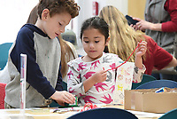 NWA Democrat-Gazette/J.T. WAMPLER Jackson Rodgers (left) and Yuly Trejo, both 6, make art Tuesday Nov. 26, 2019 during craft time at the Springdale Public Library. The library hosts Movie Day today,((WEDNESDAY NOV 27)) showing Toy Story 4 at 10:00 A.M. For information about activities at the library visit https://www.springdalelibrary.org/