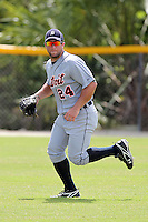 Detroit Tigers outfielder Tyler Collins #24 during an Instructional League game against the national team from China at Vero Beach Sports Complex on September 29, 2011 in Vero Beach, Florida.  (Mike Janes/Four Seam Images)