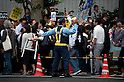 June 22, 2012, Tokyo, Japan - Tokyo Police controls the roads as people is against restarting Oi plant. Anti-nuclear protesters stage a Twitter organized rally in front of the Prime Minister's Official Residence opposing the reactivation of the Oi Nuclear Power Plant in Fukui Prefecture. ..