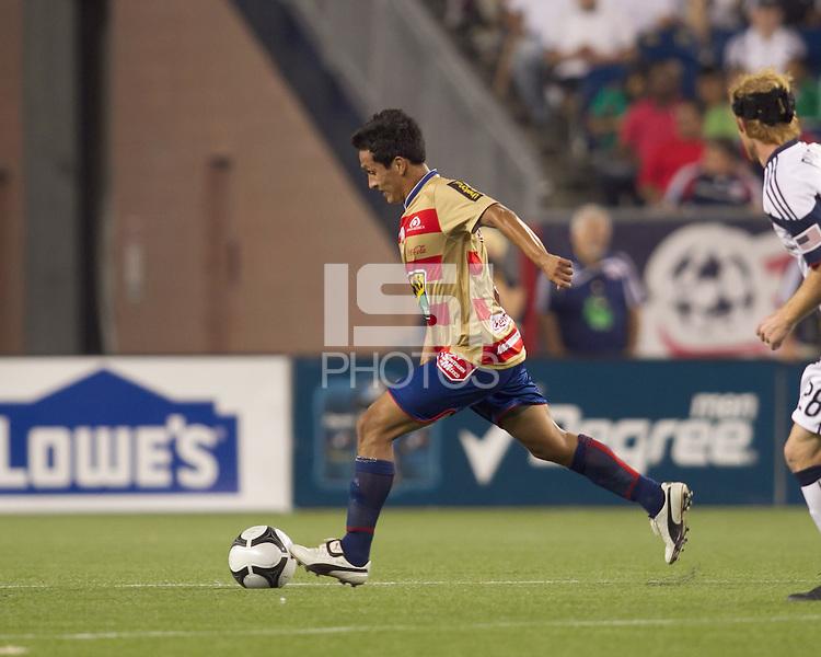 Monarcas Morelia midfielder Ismael Pineda (6). Monarcas Morelia defeated the New England Revolution, 2-1, in the SuperLiga 2010 Final at Gillette Stadium on September 1, 2010.