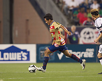 Monarcas Morelia midfielder Ismael Pineda (6). Monarcas Morelia defeated the New England Revolution, 2-1, in the SuperLiga 2010 Final at Gillette Stadium on September 1, 2010.