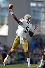 Sep 1, 2012; Quarterback Everett Golson throws in the second quarter against the Navy Midshipmen at Aviva Stadium. ..Photo by Matt Cashore/University of Notre Dame