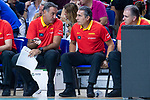 Coach Sergio Scariolo of Spain during the FIBA Basketball World Cup Qualifier match Spain against Latvia at Wizink Center in Madrid, Spain. September 17, 2018. (ALTERPHOTOS/Borja B.Hojas)