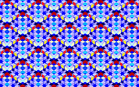 Abstract full frame three dimensional grid pattern