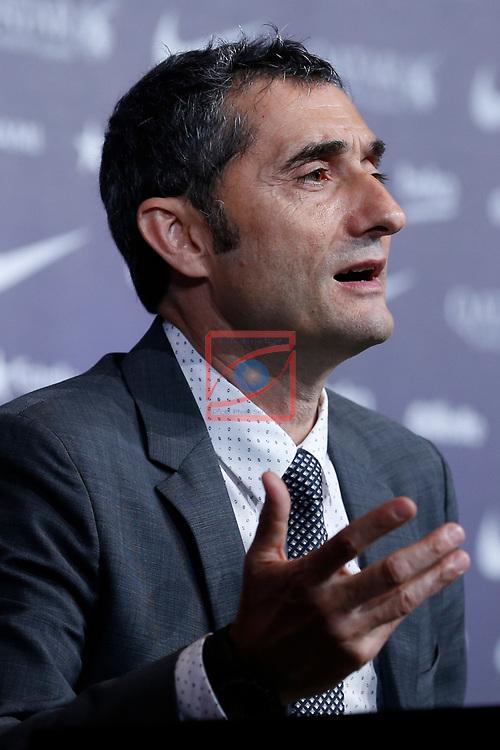 Presentation of Ernesto Valverde as new Coach of FC Barcelona.