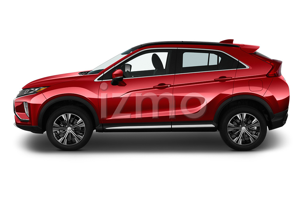 Car driver side profile view of a 2019 Mitsubishi Eclipse-Cross SEL 5 Door SUV