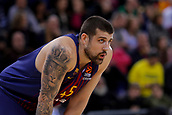 8th December 2017, Palau Blaugrana, Barcelona, Spain; Turkish Airlines Euroleague Basketball, FC Barcelona Lassa versus Fenerbahce Dogus Istanbul; Adrien Moerman of FC Barcelona waits for a free throw