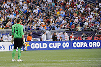 United States (USA) goalkeeper Luis Robles (18). The United States and Haiti played to a 2-2 tie during a CONCACAF Gold Cup Group B group stage match at Gillette Stadium in Foxborough, MA, on July 11, 2009. .