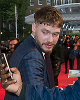 Billy Howle<br /> &ldquo;On Chesil Beach&rdquo; film premiere at Embankment Garden Cinema, London, England on October 8th, 2017.<br /> CAP/JOR<br /> &copy;JOR/Capital Pictures