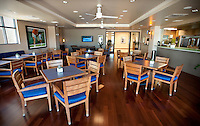 A restaurant inside the fitness facility at the Four Seasons Resort and Spa in Irving, Texas, Sunday, May 2, 2010. Four Seasons couldn't abstain from cost cutting in this downturn as it had in previous recessions because the worst hotel market in decades left the company last year with a 26% decline in revenue per available room in the U.S. Similarly, its occupancy fell to 57% from its usual perch above 70%...CREDIT: Matt Nager for The Wall Street Journal.CREDIT: Matt Nager for The Wall Street Journal