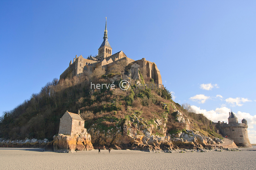 France, Manche (50), le Mont-Saint-Michel, la chapelle Saint-Aubert // France, Manche , the Mont-Saint-Michel, Saint-Aubert chapel