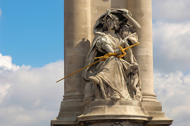 Paris - France - Pont Alexadre 111 - Column