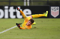 LAKEWOOD RANCH, FL - NOVEMBER 14: Gabe Slonina #1 watches the shot go past him during a game between Netherlands and U16 USBNT at Premier Sports Campus on November 14, 2019 in Lakewood Ranch, Florida.