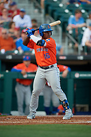 Syracuse Mets Dilson Herrera (16) bats during an International League game against the Buffalo Bisons on June 29, 2019 at Sahlen Field in Buffalo, New York.  Buffalo defeated Syracuse 9-3.  (Mike Janes/Four Seam Images)
