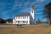 Canaan Meetinghouse  which was built in 1793 by William Parkhurst. Located in historic Canaan, New Hampshire, USA, which is part of New England. Also known as the Canaan Town Hall and it is listed on the National Register.
